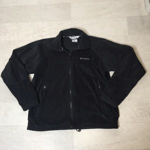 Columbia Fleece Sz M Black Interchange Jacket